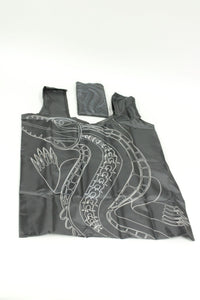 Bag  - Tote Black Crocodile Design