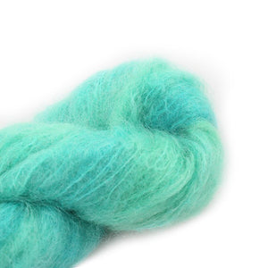 Fluffy Mohair Solids von cowgirlblues,100g, Farbe Emerald