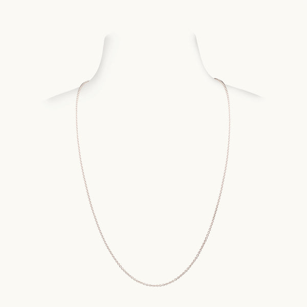Thick White Gold Chain, 22 Inches