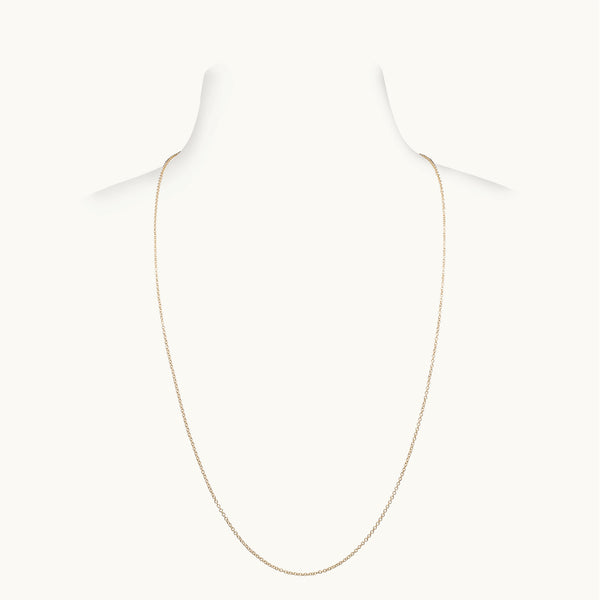 Thin Yellow Gold Chain, 22 Inches