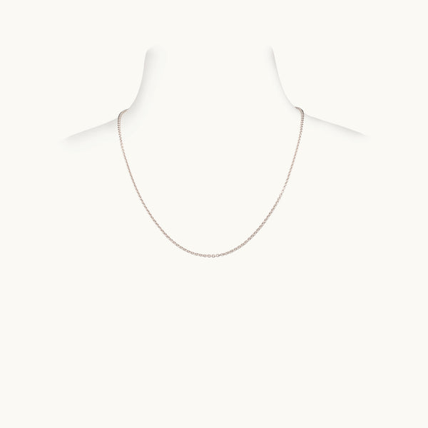 Thick White Gold Chain, 16 Inches