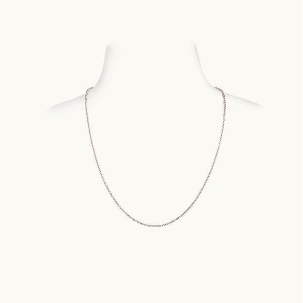Thick White Gold Chain, 18 Inches