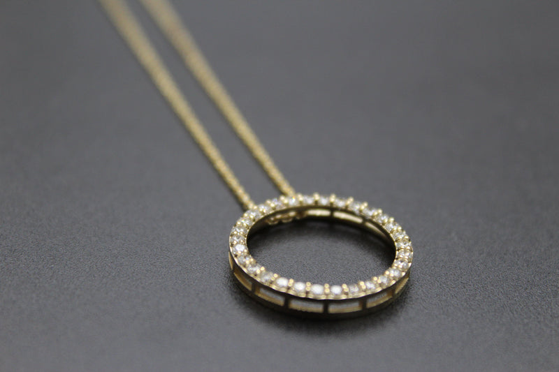 Collier ROMY - Collier rond en or 14 carats et diamants