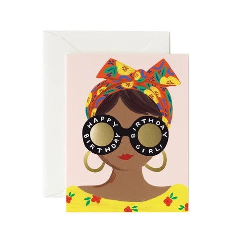 Scarf Birthday Girl Card