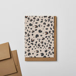 Leopard Notecard Cream
