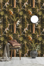 Barbados Anthracite Mind The Gap Wallpaper