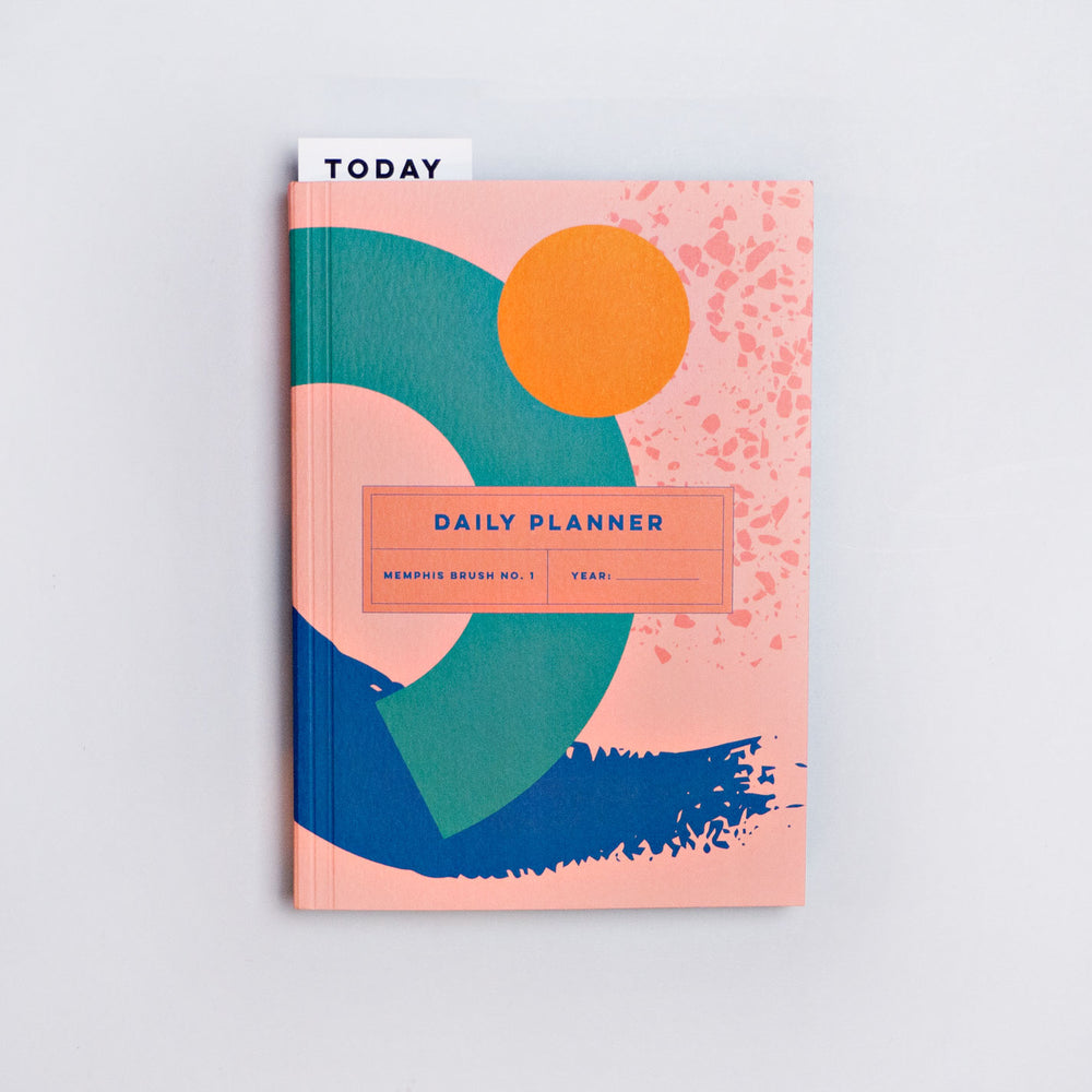 Memphis Brush No 1. Daily Planner - The Completist