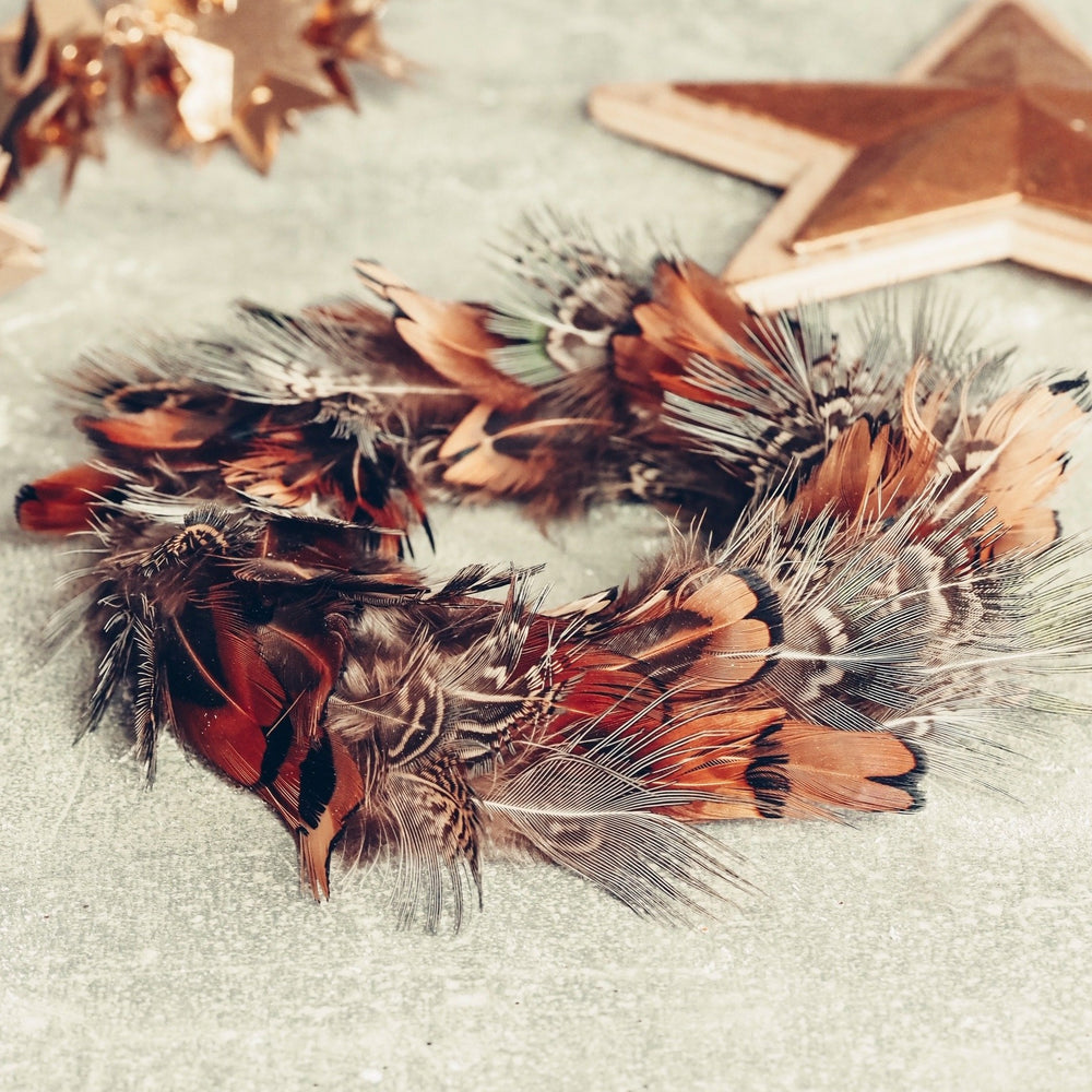 Petite Feather Wreaths