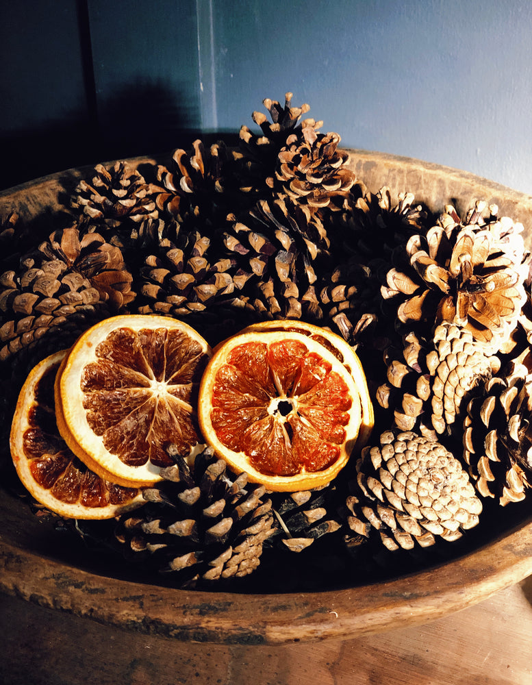 Winter Spice Scented Natural Pinecones