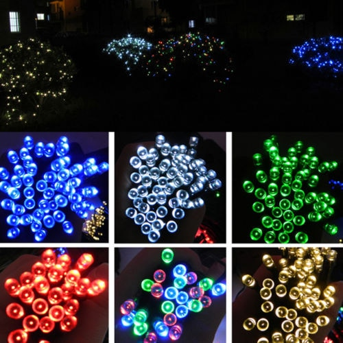 12M 100 LED Solar Panel Powered Fairy String Lights Lamp for Outdoor Garden Home Christmas Wedding Party Xmas Tree Decoration