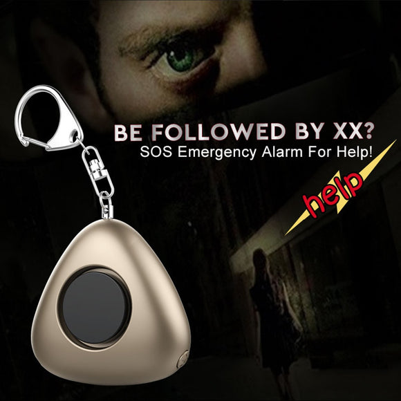 AF-9200 Self Defense Supplies Mini Personal Safety Emergency Panic Keychain Anti-rape Anti-wolf Alarm for Elderly Kids Women