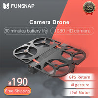 Funsnap iDol FPV RC Drone 4K GPS Quadrupter Professional Drone Camera HD 1080P AI Gesture For Xiaomi Youpin 4K Camera Drones