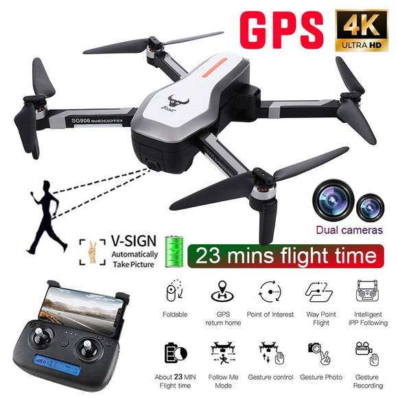 SG906 GPS 5G WIFI FPV With 4K Ultra clear Camera Selfie Foldable Helicopter RC Drone Quadcopter RTF