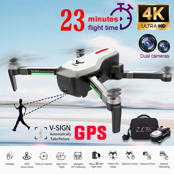 SG906 GPS Brushless Professional drone 4K HD X50 ZOOM Camera 5G Wifi FPV Foldable Quadcopter RC Helicopter selfie drones X pro