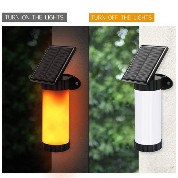 Solar Simulation Flame Wall Lamp Outdoor Courtyard Garden Landscape Lamp Human Body Induction LED Street Light And Sticker