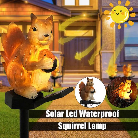 Squirrel Solar Lights Outdoor Waterproof Landscape Garden Lawn Stake Light IP44 Fairy Night Lights Ornament Animal Home Decor