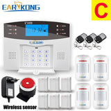 buyonlinesa - Wired & Wireless GSM Home Burglar Security Alarm System 433MHz Spanish French English Russian Italian Language Intercom - Home Defence