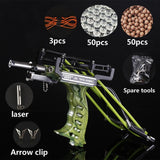 buyonlinesa - Laser Slingshot Black Hunting Bow Catapult Fishing Bow Outdoor Powerful Slingshot for Shooting Crossbow Bow For Catch Fish - Self defence