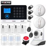 buyonlinesa - FUERS WG11 WIFI GSM Wireless Home Business Burglar Security Alarm System APP Control Siren RFID Motion Detector PIR Smoke Sensor - Home Defence