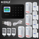 buyonlinesa - Kerui G18 GSM Home  Alarm systems Security TFT Android IOS APP Touch keypad Smart Home Burglar Alarm  System DIY Motion Sensor - Home Defence