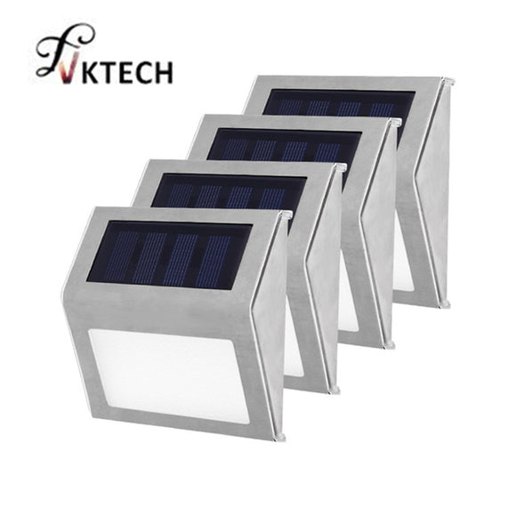 buyonlinesa - 1-4pcs 3 LED Solar Light Stainless Steel Solar Power Garden Light Waterproof Outdoor Lighting Energy Saving Courtyard Lights - Solar Products