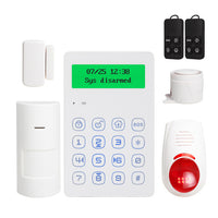 buyonlinesa - Voice Prompt 433mhz wireless keypad GSM Alarm system android IOS APP control with anti-tamper function wired siren - Home Defence