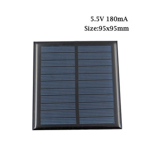 Solar Cell 5.5 V Bluetooth speaker Powerbank Digital camera Solar System DIY For Battery 5V Solar Panel Phone Chargers Portable