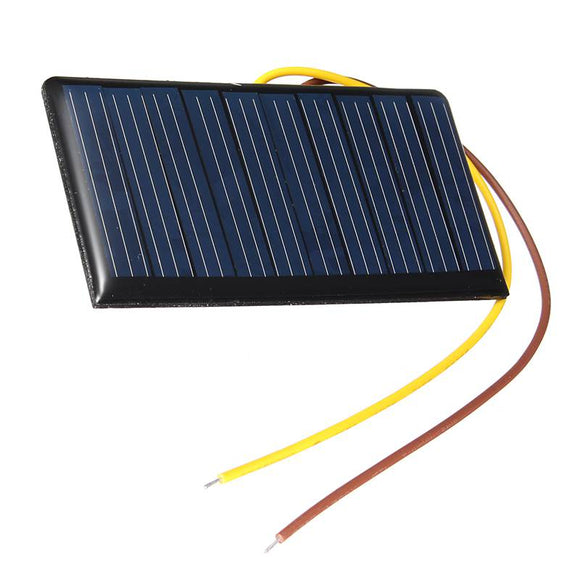 68X37X3mm 5V 0.3W 60mA DIY Mini Solar Power Epoxy Resin Plate Solar Cell Battery Solar Panel Charger Led Solar Light Lamp