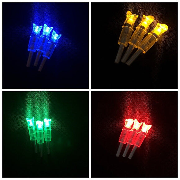 buyonlinesa - 4 COLOR 3pcs Archery Lighted Nock Crossbow LED Nock 30 grain Hunting Arrow Nocks fit for 7.6mm Inner Diameter - Self defence