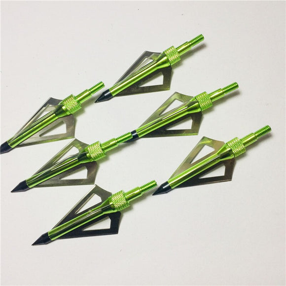 buyonlinesa - OBAADTF 6Pcs/Lot Three Blades 100 Grain G Steel Archery Hunting Arrowheads for Crossbow Bolts Broadheads Arrow Accessories - Self defence