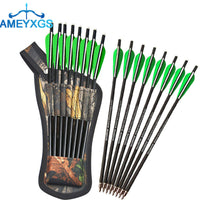 "buyonlinesa - 8pcs 16"" 17"" Archery Crossbow Bolts Arrows Carbon Shafts With Arrow Quiver Arrow Carbon For Outdoor Hunting Shooting Accessories - Self defence"