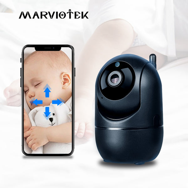 Baby Monitor WiFi Auto Tracking IP Camera WiFi Home Security Camera Night Vision Wireless Surveillance Mini CCTV Camera 1080P HD