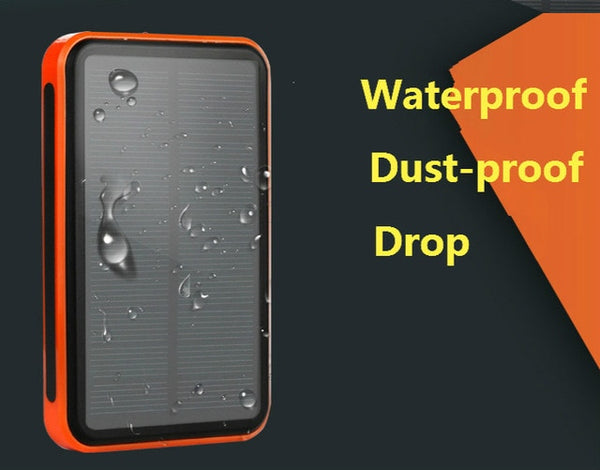 Solar Power Bank Dual USB Power Bank 30000 mAh Waterproof PowerBank Bateria External Portable Solar Panel Universal