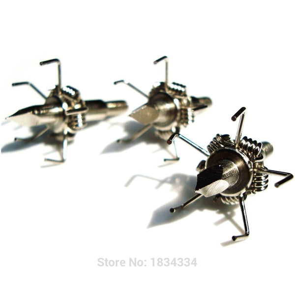 buyonlinesa - 6/12Pcs Archery Hunting Broadheads Silver Sharp Tip 100g Points Screw Pro Hunting Bow And Crossbow Arrowheads - Self defence