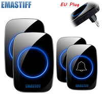 New Home Welcome Doorbell  Intelligent Wireless Doorbell Waterproof 300M Remote EU AU UK US Plug smart Door Bell Chime