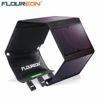 FLOUREON 28W Solar Panel with 3 USB Output Ports Waterproof Foldable Solar Charger for Smartphones Tablets and Camping Travel