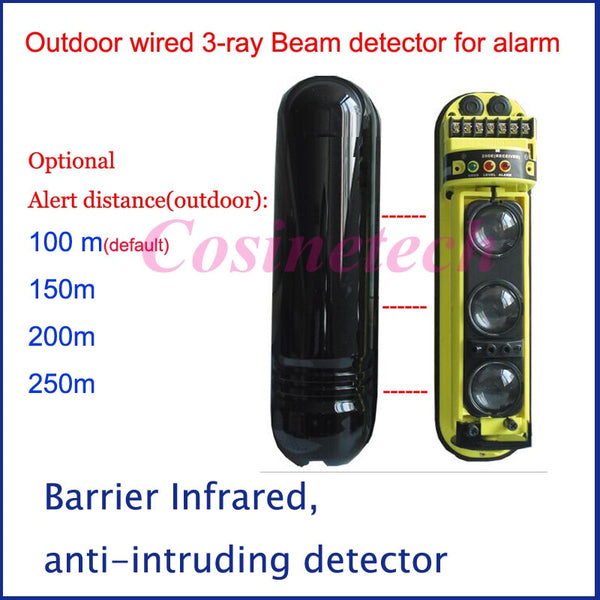buyonlinesa - 3 Rays tri-beam wired outdoor/ indoor beam detector sensor IR perimeter,barrier infrared motion security alarm system - Home Defence