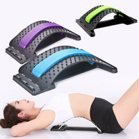 Back Massager Stretcher for Fitness Stretch Relax Lumbar Support Back Pain Relief Lumbar Stretching Posture Corrector Chiropract