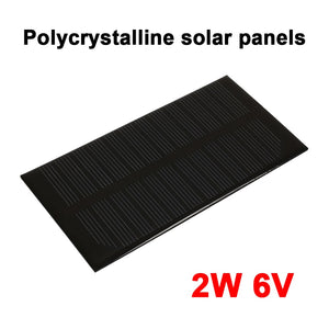 2W 6V Solar Panel Durable Solar Generator Solar Light Outdoor DC Output Waterproof Panel
