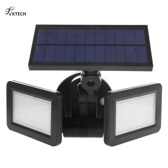 48LED Dual Head Solar Light Radar Sensor Spotlight Waterproof Outdoors Solar Garden Light Super Bright Yard Flood LED Lamp