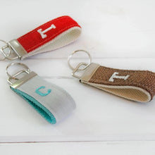 Load image into Gallery viewer, Wristlet Key Ring •  Personalized Wrist Keychain •  Monogrammed Keyring - OhKoey