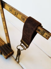 Load image into Gallery viewer, Waxed Canvas Wristlet KeyRing - Wrist Keychain - Men's Gift Wristlet Key Chain - OhKoey