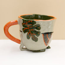 Load image into Gallery viewer, Palm Mug with Orange Handle