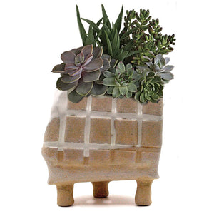 Footed Grid Planter