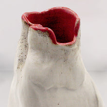 Load image into Gallery viewer, Mix Clay Vase with Red Glaze