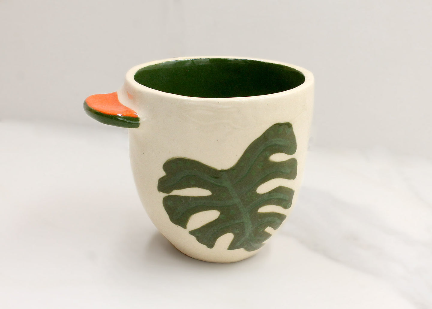 Botanical Palm Cup with Tab