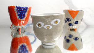 White and Golden Eyed Cup