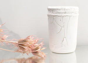 White Ceramic Mini Mason Jars