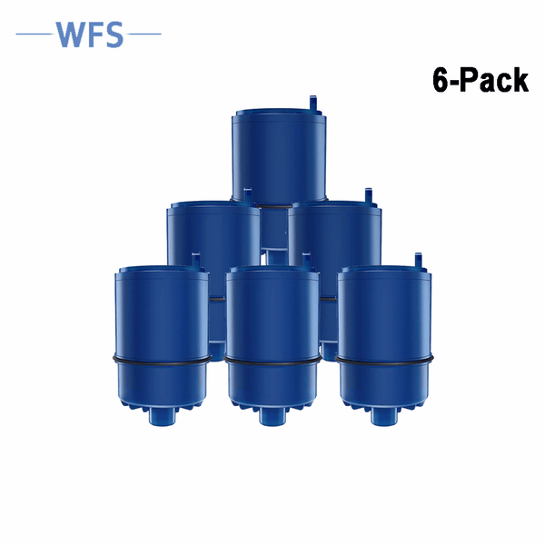 WFS-WFPURE Refrigerator water filter Compatible with Pur RF9999 RF-9999 Faucet Replacement Water Filter (6 Packs) - Waterfiltersystem