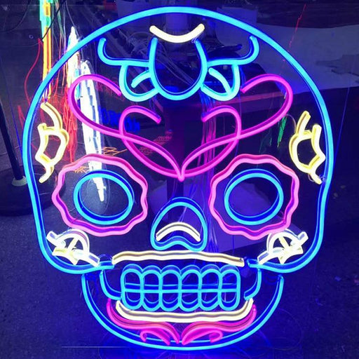 Skull Face Neon Bar Sign Led Light